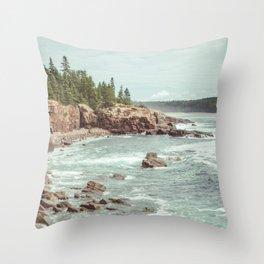 Swirling Sea Throw Pillow