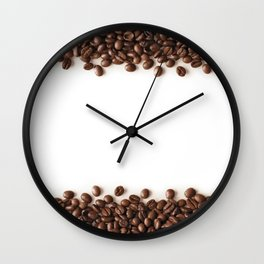 Coffee Stripes Wall Clock