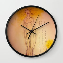 Lucille, The First Human Angel Wall Clock