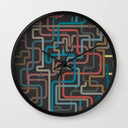In the deep (pipes) Wall Clock