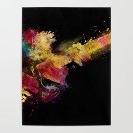 guitar art 8 #guitar #art #music Poster
