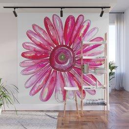 Pink Gerber Daisy Wall Mural