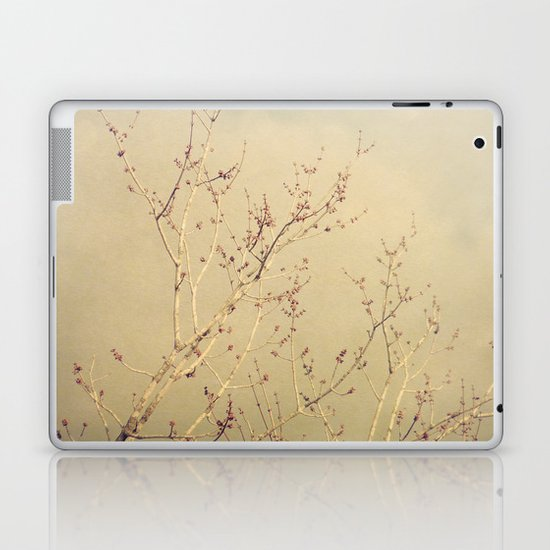 Vintage February Branches Laptop & iPad Skin