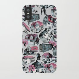 Danish small town pattern iPhone Case
