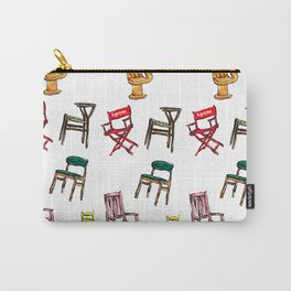 Rainbow Chairs Painting Carry-All Pouch