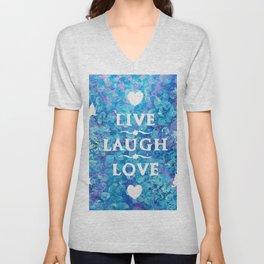 Live, Laugh, Love Unisex V-Neck
