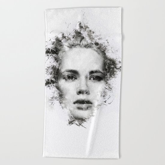 Woman Portrait Beach Towel