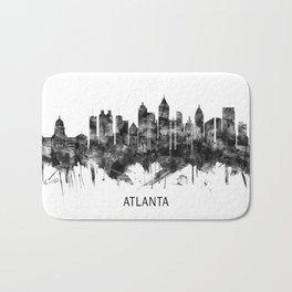 Atlanta Georgia Skyline BW Bath Mat