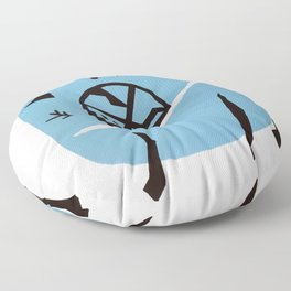 Petit chien. Small dog. Floor Pillow