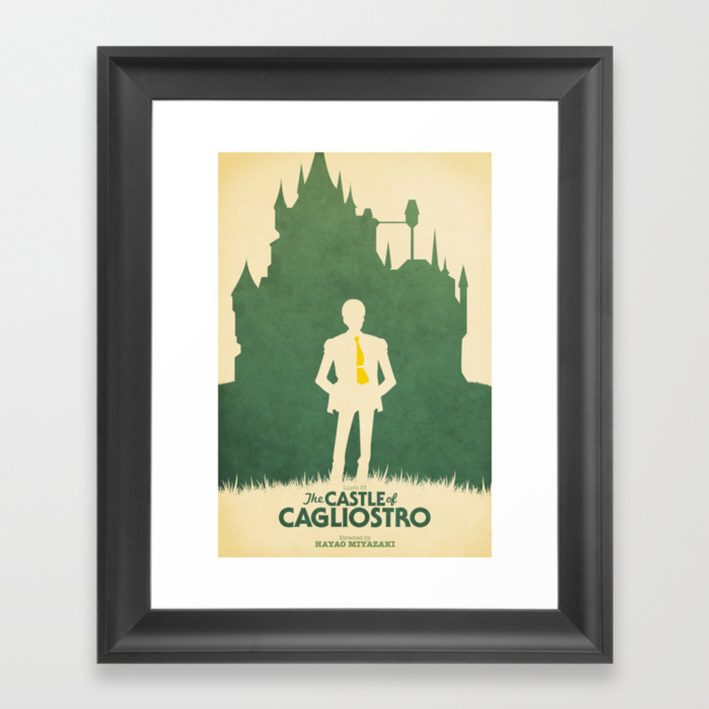 Lupin Iii: The Castle Of Cagliostro Retro Movie Po… Framed Art Print by Benhuber FRM178059
