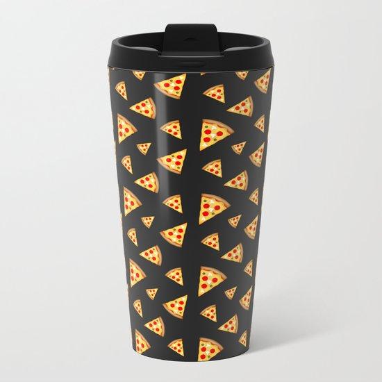 Cool and fun pizza slices pattern Metal Travel Mug