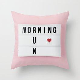 Motivation box Throw Pillow