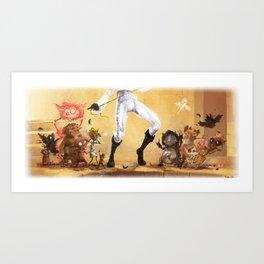 Glitter KARAOKE (Pants magic pants) Art Print