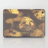 baking iPad Cases featuring I'd rather be baking by inesmarinho