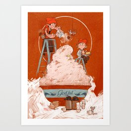 Christmas porridge Art Print