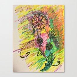 funky dream catcher Canvas Print