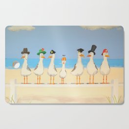 Seagulls with Hats Cutting Board