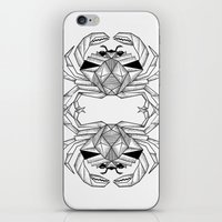 crab iPhone & iPod Skins featuring Crab by dieanderwolf
