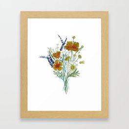 California Wildflower Bouquet Framed Art Print