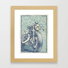 Feel the Road with a Cafe Racer Framed Art Print