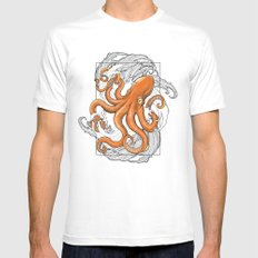Hexapus Ink 3 Mens Fitted Tee White MEDIUM