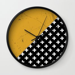 Swiss crosses (grunge) Wall Clock