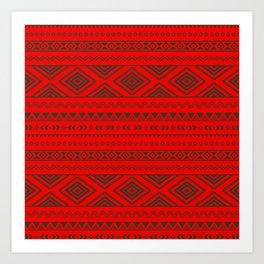 Tribal #9 * Ethno Ethnic Aztec Navajo Pattern Boho Chic Art Print