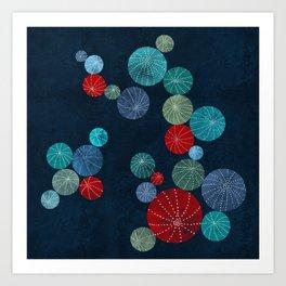 Colorful cactus field Art Print