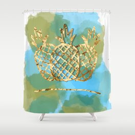 pineapple paradise Shower Curtain