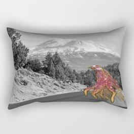 Unseen Monsters of Mount Shasta - Laskkii Squintleek Rectangular Pillow
