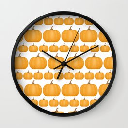 Pumpkin Pattern Wall Clock