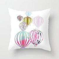 ballon Throw Pillows featuring Ballon by Lydia Wienberg