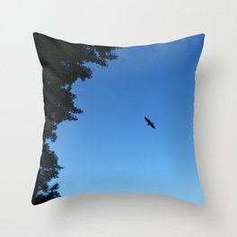 Eagle Silhouette // Nature Photography Throw Pillow