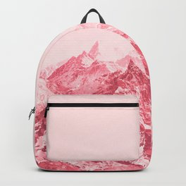 Mountains Red Backpack