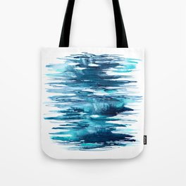 Gentle Surf - Abstract Ocean Watercolor Water Reflections Tote Bag