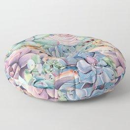 Succulent Rock Garden Floor Pillow