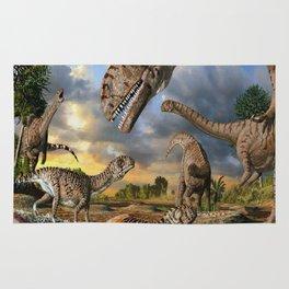 Jurassic dinosaurs being born Rug