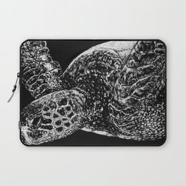 Beneath the Waves the Sea Turtle Swims Laptop Sleeve