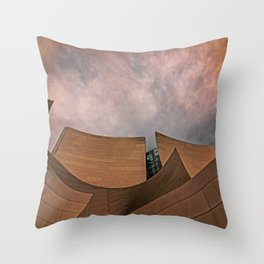 Architectural abstract of the home of the LA Philharmonic. Architect: Frank Gehry Throw Pillow