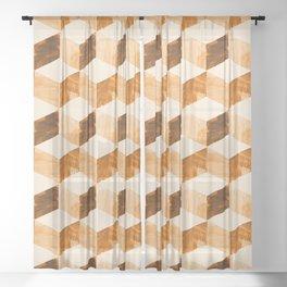 global mod cubic Sheer Curtain