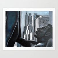 Couple in the City. Art Print
