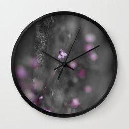 Flower on the Rocks Wall Clock