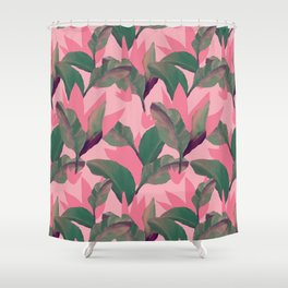 Retro Luxe Lilies Pink Shower Curtain