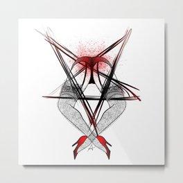 Hail Satin Metal Print