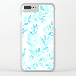 Pattern blue Clear iPhone Case