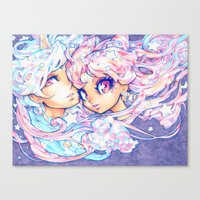 barachan Canvas Prints featuring little dream by barachan