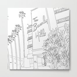 The Beverly Hills Hotel Metal Print