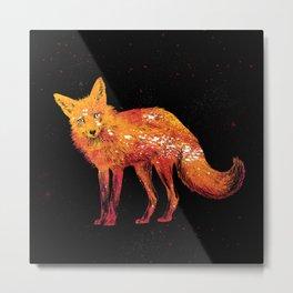 Fox of Fire Metal Print