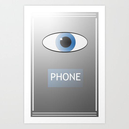 Eye Phone Art Print
