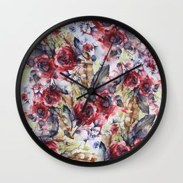 Bloodflowers Wall Clock